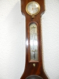 Antique BAROMETER IN MAHOGANY CASE SUPERB GEORGIAN WALL ITEM