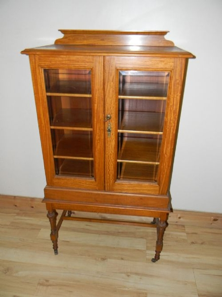 BOOKCASE DWARF SATINWOOD
