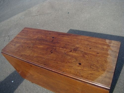 Antique TABLE GEORGIAN MAHOGANY DROPLEAF