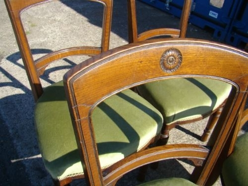 Antique CHAIRS VICTORIAN OAK FOUR DINING