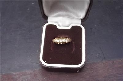 Antique 18CT GOLD WITH DIAMONDS LADIES VICTORIAN RING SIZE G CONDITION GOOD.