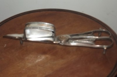 CANDLE WICK SNUFFERS SILVER PLATE A BIT WORN OLD ITEMS--IS