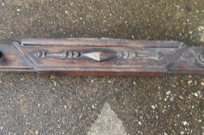 Antique FIRE SURROUND BARLEY TWIST OAK 1920'S