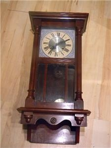 WALL CLOCK MAHOGANY EARLY 20TH CENTURY STUNNING QUALITY