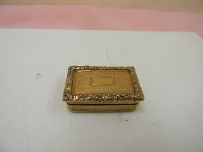 Silver Georgian Vinaigrette quality stunning condition small and petite.IS