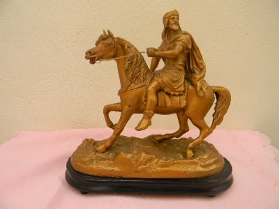 Charlamaine on horseback stunning quality item. B3