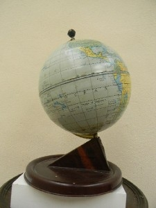 Globe of the world desk top world globe.