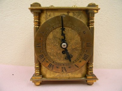 Carriage clock mechanical 8 day movement superb working order brass English made