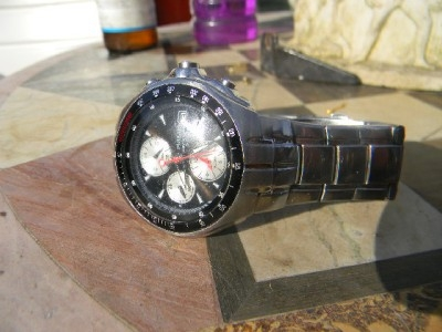 Mans wristwatch Pulsar chrono quartz stainless steel-CC