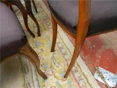 Antique CHAIRS DINING SET OF SIX MATCHING ROSEWOOD VICTORIAN