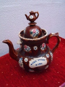"BARGE WARE TEA POT "" HOME SWEET HOME """