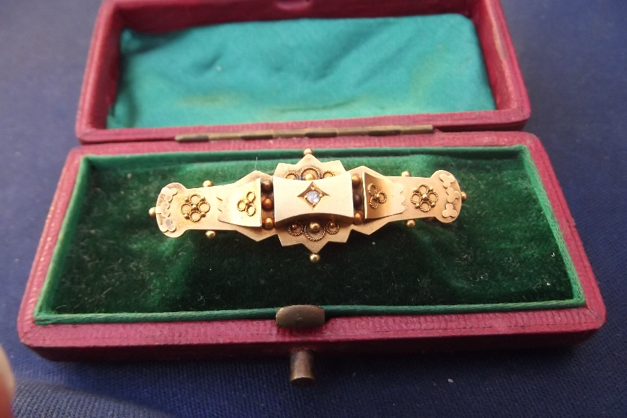 Gold antique diamond brouch superb.