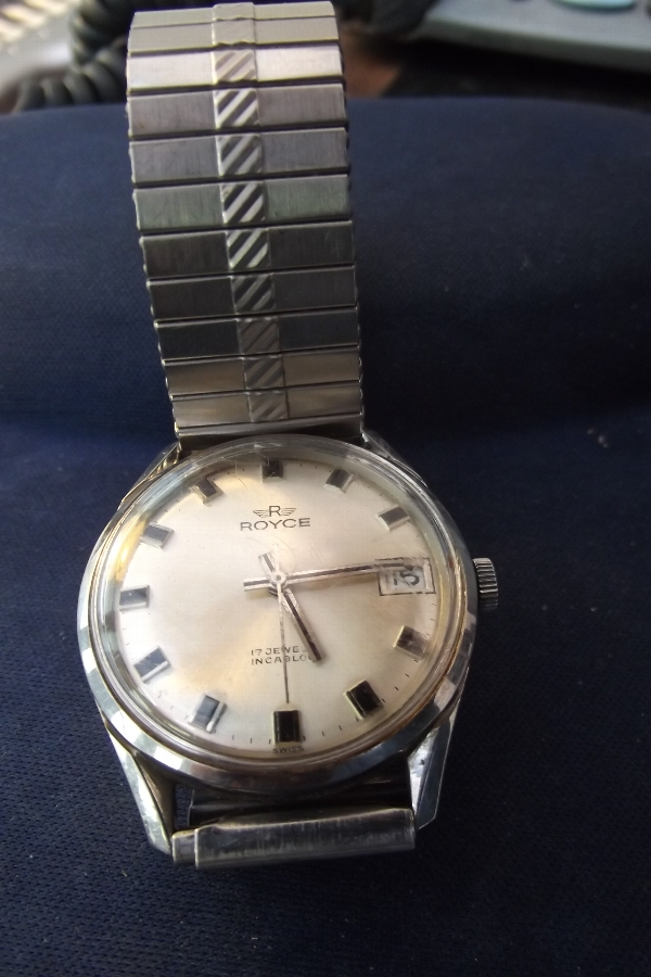 Wristwatch mans Royce stainless steel strap
