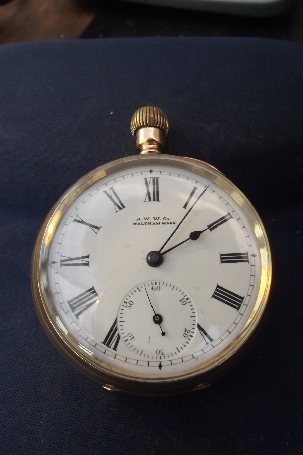 pocket watch good working order circa early 20th century.