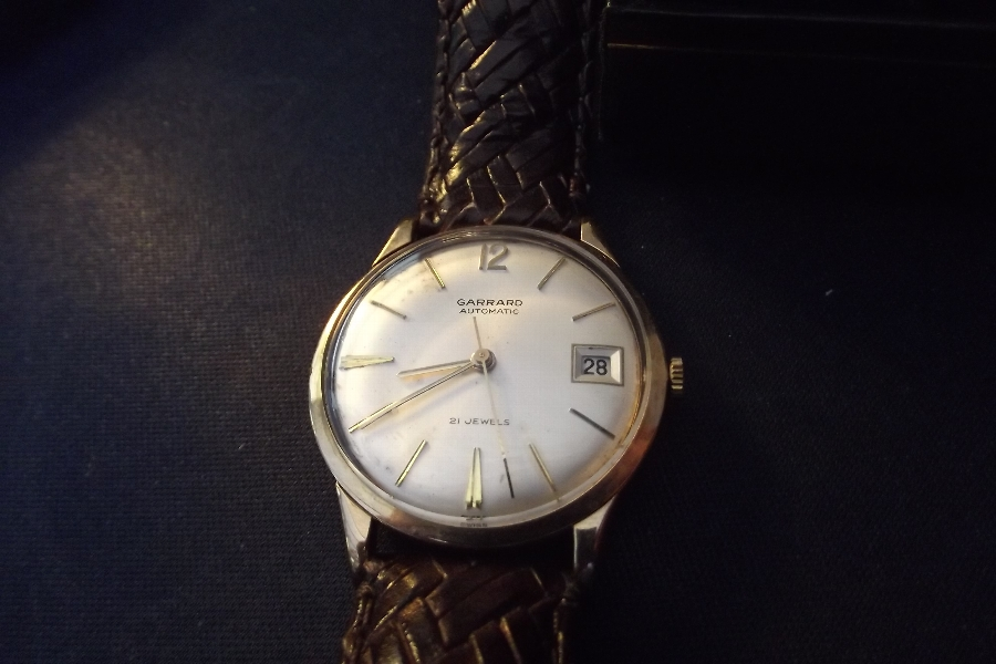 Gold mans wristwatch maker Gerrard quality item