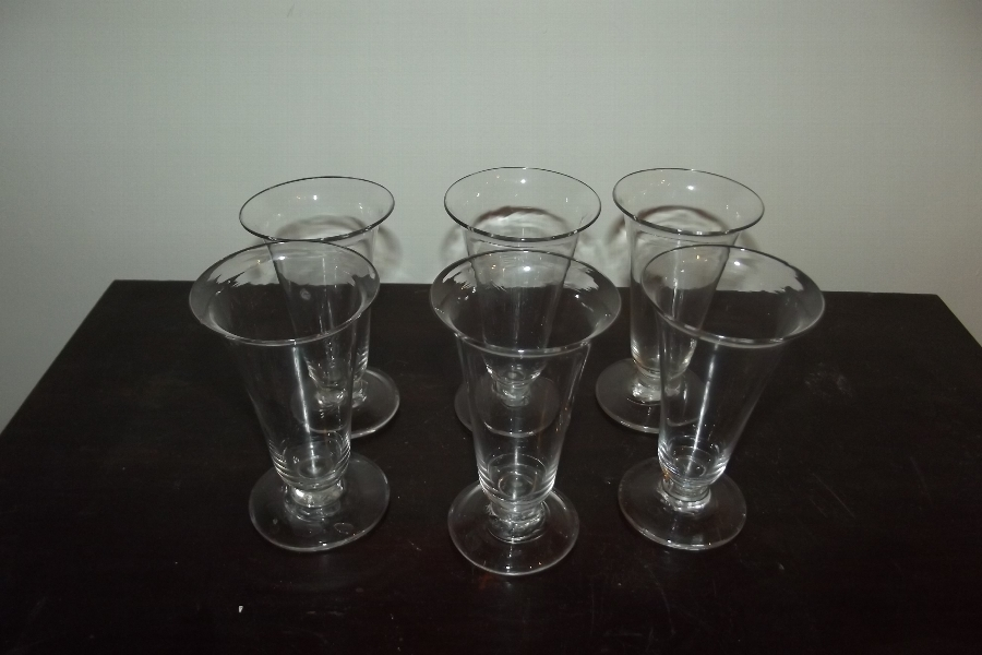 Whisky glass's Georgian set of six