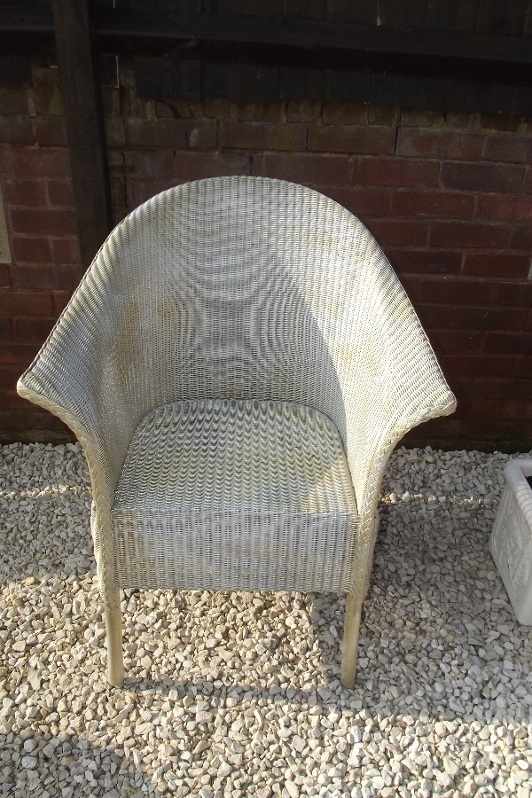 Lloyd loom armchair in original condition