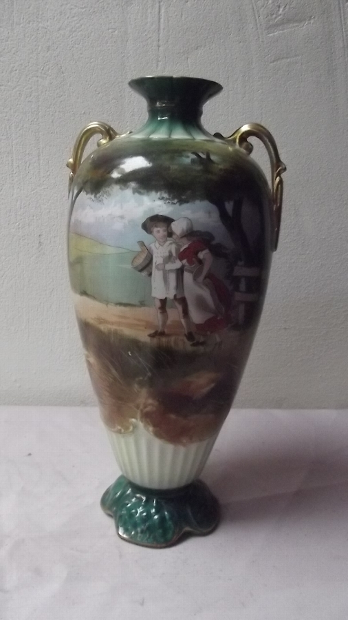 Vase Victorian Hand painted signed by artist