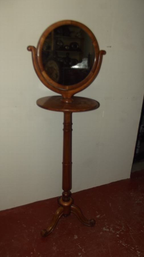 Shaving stand Victorian satinbirch wood