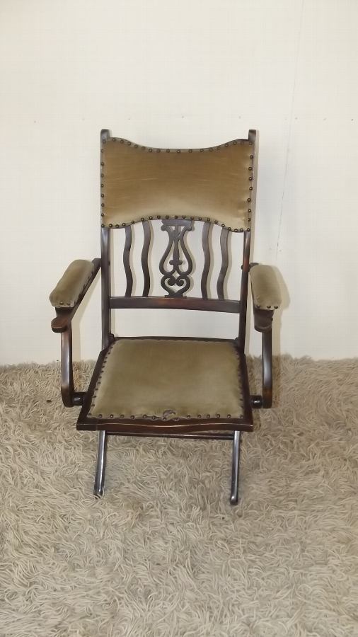 Campaign armchair Victorian army officers