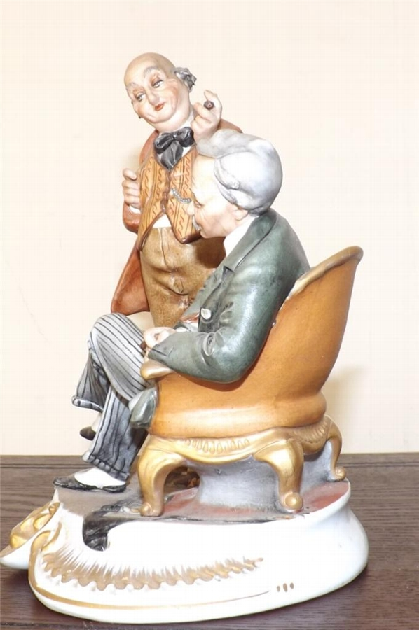 Antique CapoDimonte figures work by Trche Bruno