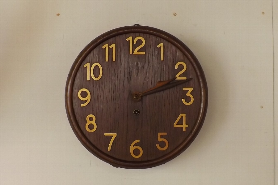 Clock boardroom wall clock in oak stunning quality