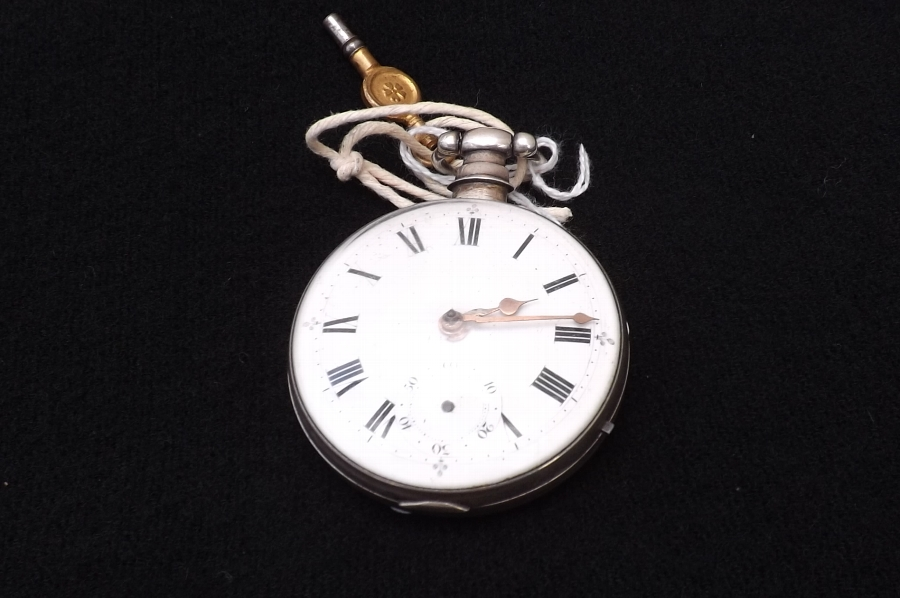 pocket watch verge Mathew Newell of Leicester vintage and working.