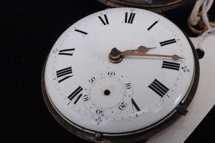 Antique pocket watch verge Mathew Newell of Leicester vintage and working.
