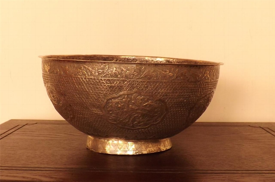 Silver Anglo Indian 19th century bowl rare item-- B17