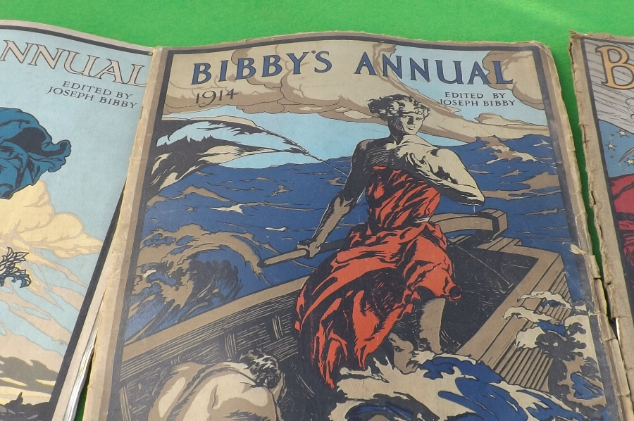 Antique Bibby's Annual's early 20th century 10 in all. B4