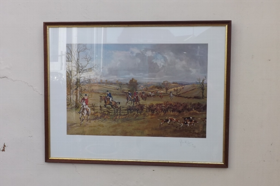 Prince Charles riding to hounds 1977 limited edition print 62/350