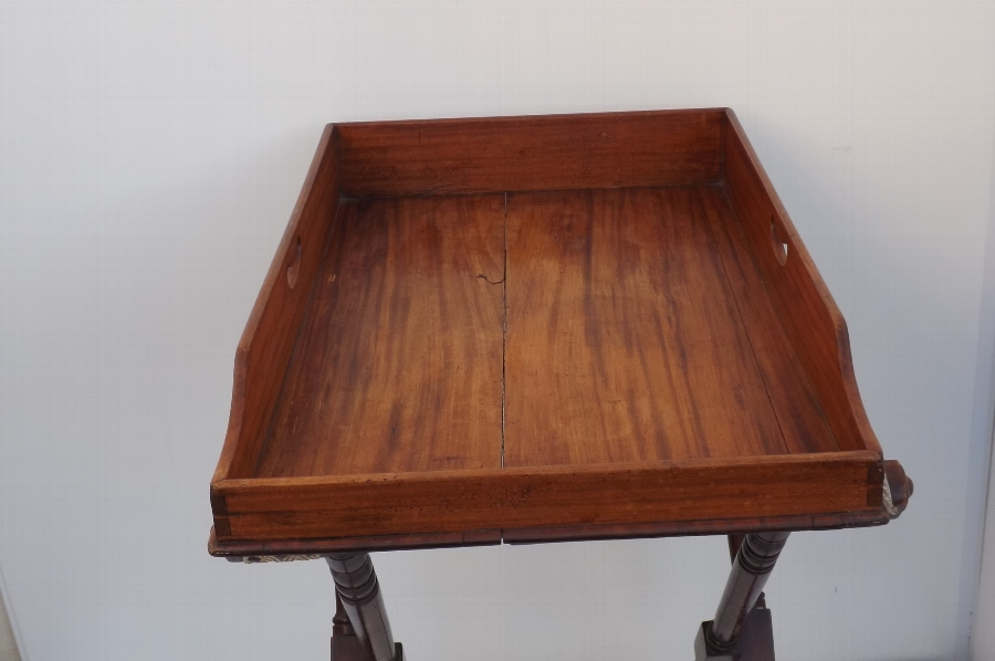 Butler's Tray Georgian Cuban Mahogany Tray with stand