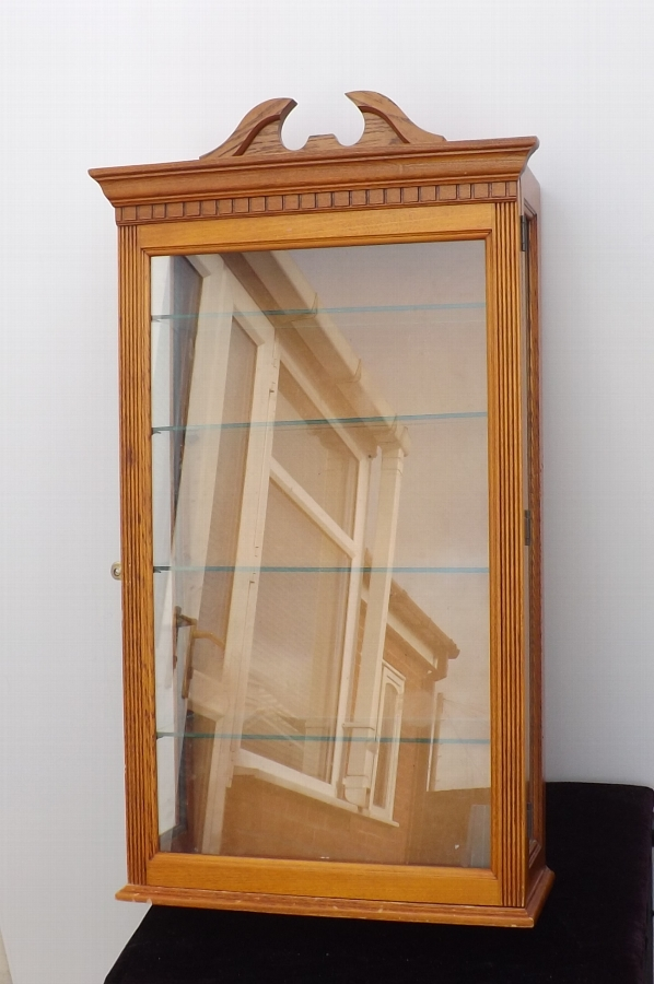 Display Cabinet Victorian made in Satin wood