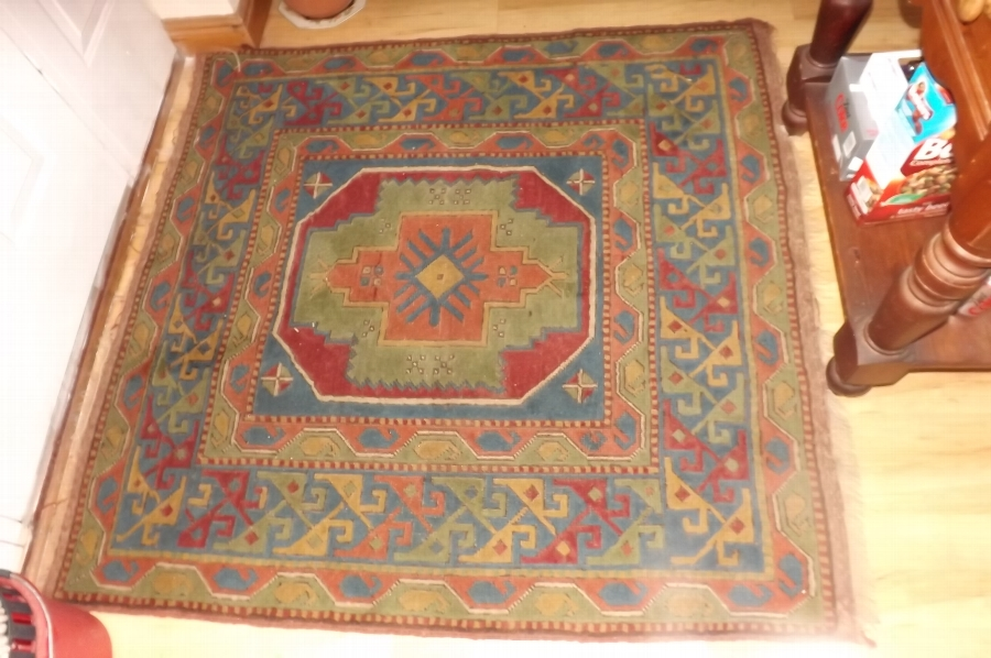Shirwan rug woven in many colours with Geometric designs East Caucasus.