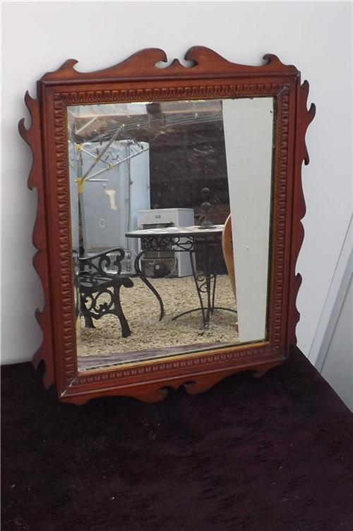 Mirror Georgian Mahogany framed bevelled edge