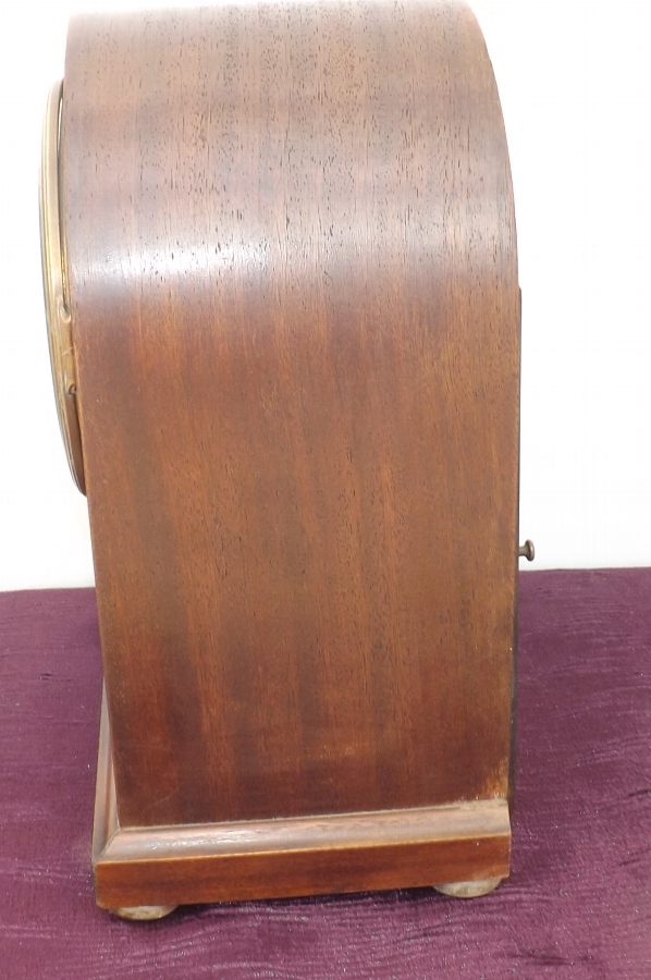 Antique Bracket clock. Edwardian mahogany cased musical movement made in Germany.