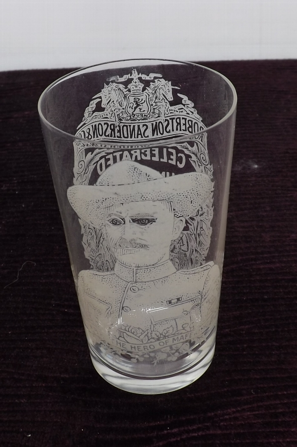 Baden Powells etched presentation whisky Glass rare and in perfect condition.