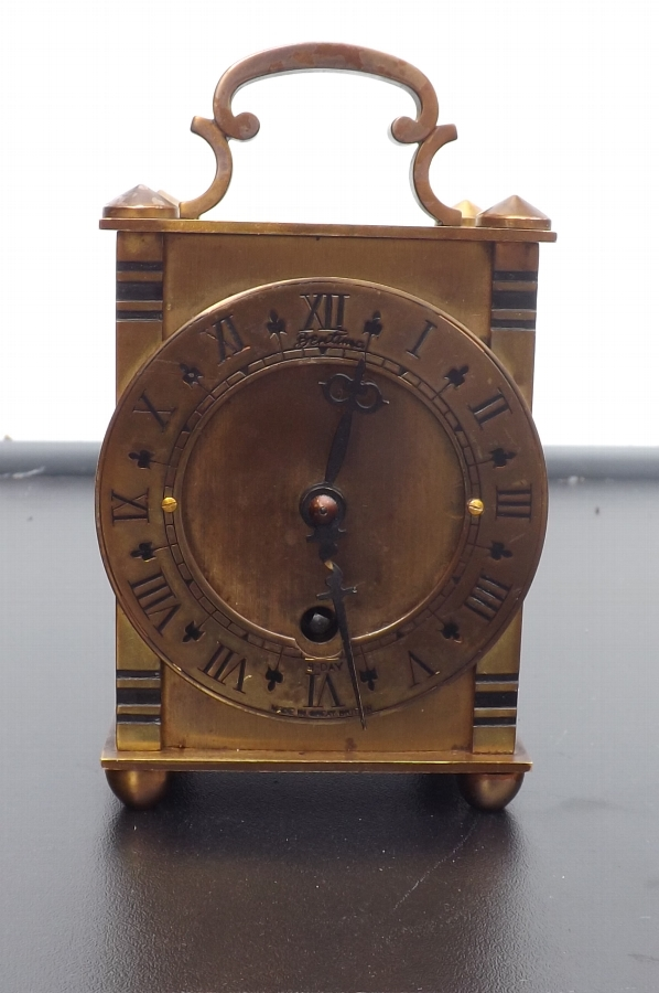 Carriage clock mechanical 8 day movement. CB