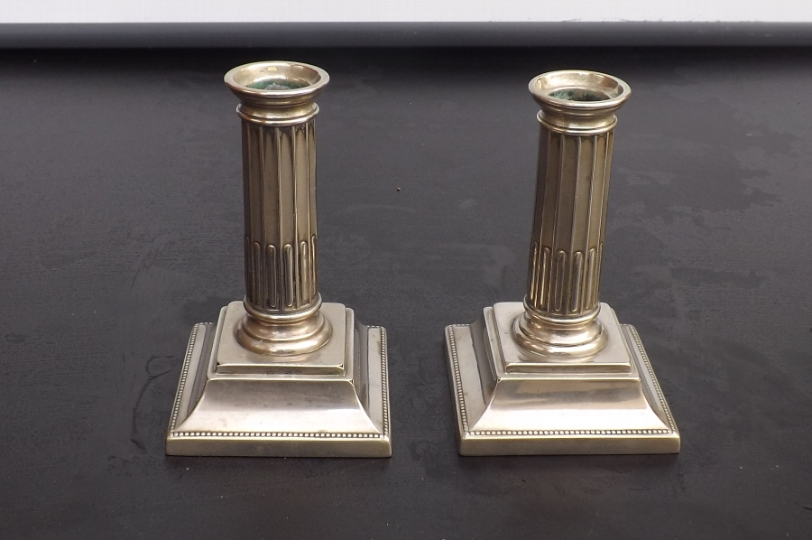 Candle sticks WMF continental silver plate. B37