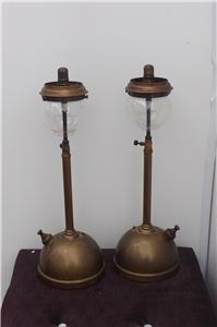 Tilley Lamps Matching pair rare table top items. B38