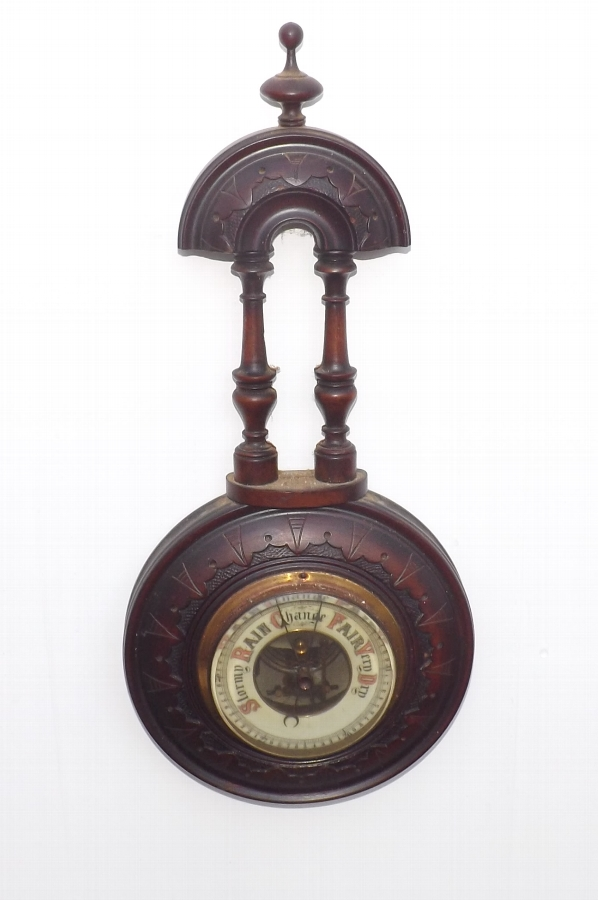 Antique Barometer wall hanging Victorian. CC