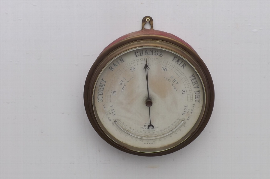 Antique Barometer/thermometer wall hanging Anoroid Victorian
