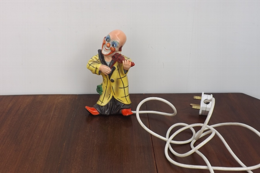 Clown bedside lamp decorative 20th century quality item. RB1