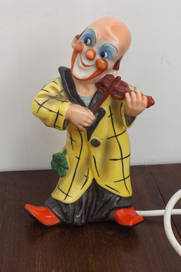 Antique Clown bedside lamp decorative 20th century quality item. RB1