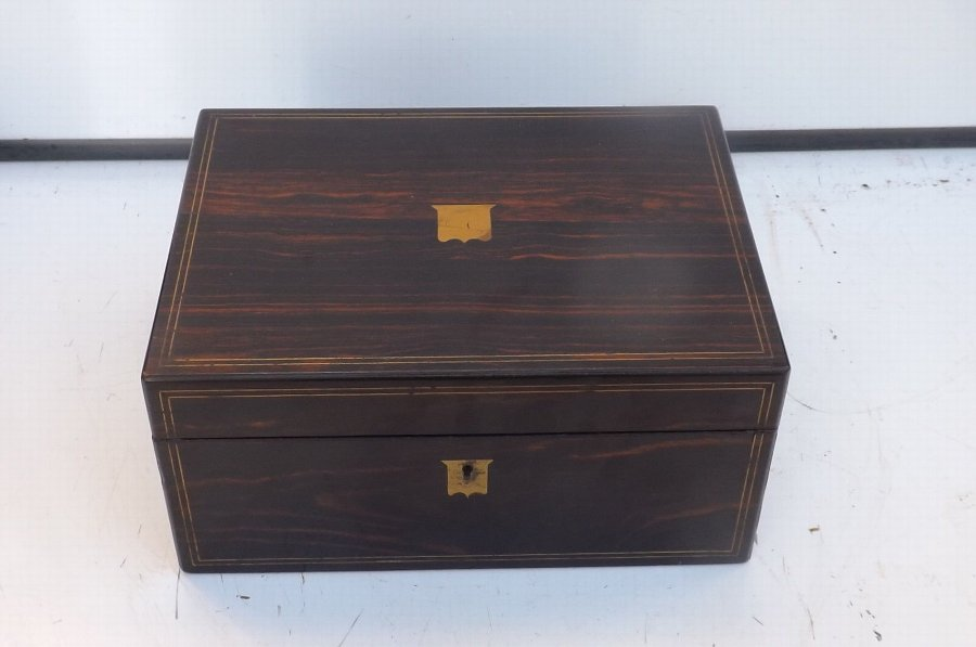 Writing Box/Slope coromandel wood Victorian