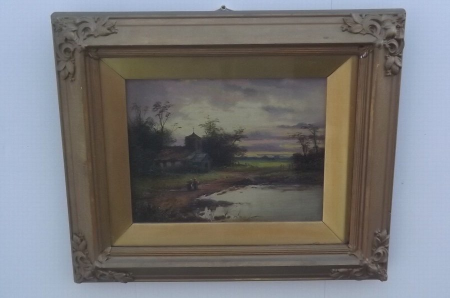 Paintings oil Victorian in quality frames