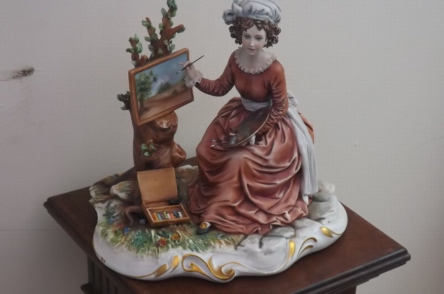 porcelain of woman artist European work