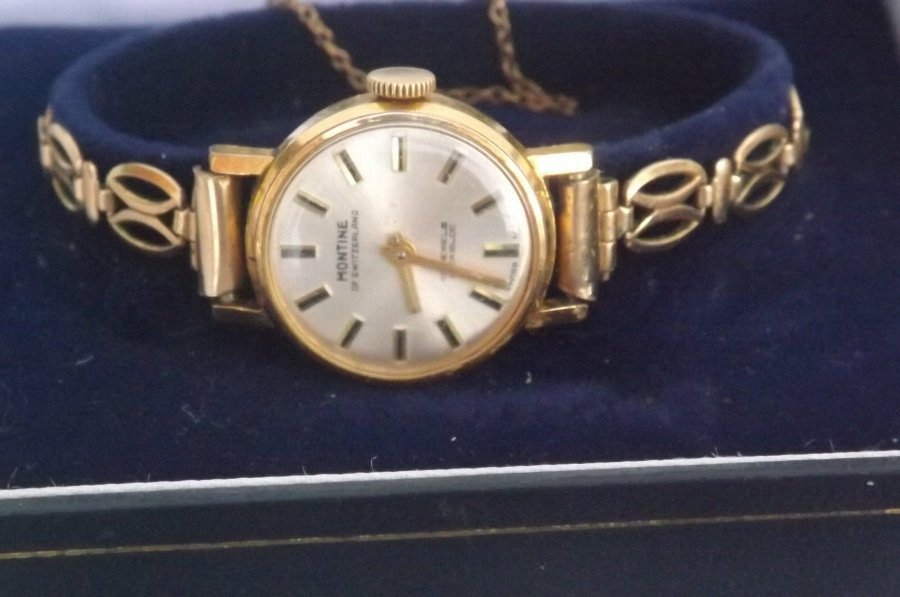 wrist watch ladies mechanical vintage Montine