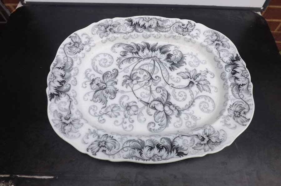 serving dish Victorian very large item highly decorated
