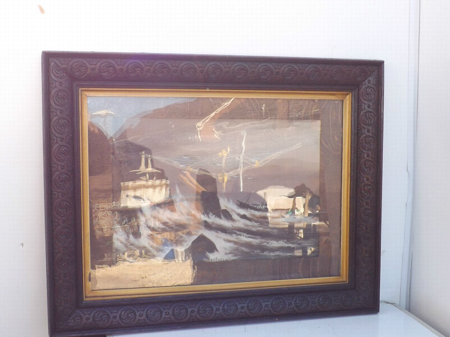 Antique Painting's water colours Sea scapes
